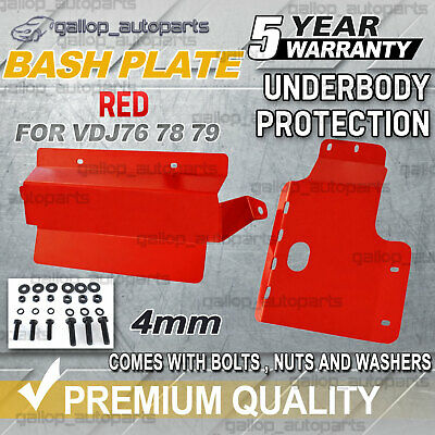 AU259 • Buy Bash Plate 4mm For Toyota Landcruiser VDJ 76 78 79 V8 Underbody Protection Red