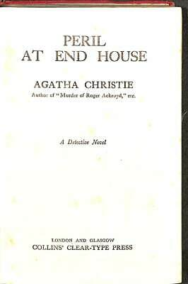 Peril At End House, Acceptable Condition Book, Christie,Agatha, ISBN • 17.03£
