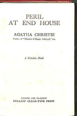 Peril At End House, Acceptable Condition Book, Christie,Agatha, ISBN • 22.71£