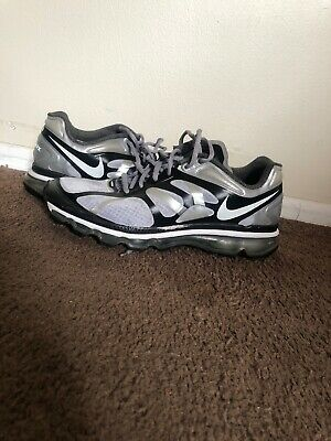 Men's Nike Air Max Plus 2012 Black Gray Running Athletic Shoes Size 10 • 59.69$