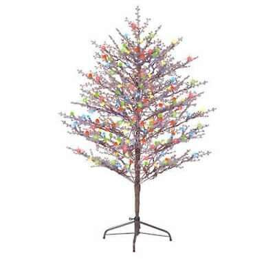 Winterberry Outdoor Indoor Christmas Tree Lighted Decor LED Lights 60  Realistic • 150.43$