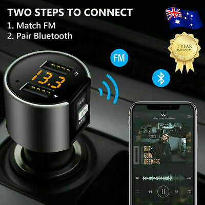 AU22.99 • Buy Handsfree Wireless Bluetooth Car Kit FM Transmitter USB Charger Radio MP3 Player
