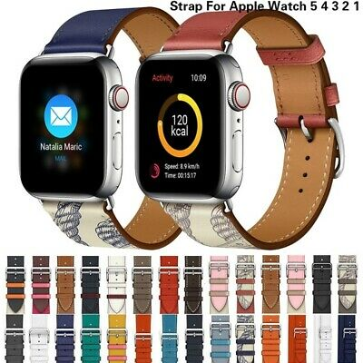 $ CDN13.99 • Buy Leather Single Double Tour Band Bracelet Replacement For IWatch Series 5 4 3 2 1