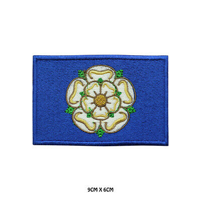 £2.29 • Buy YORKSHIRE County Flag Embroidered Patch Iron On Sew On Badge For Clothes Etc