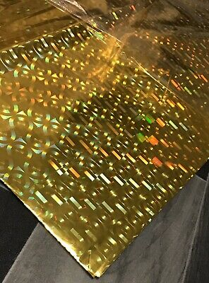 Gold Gift Wrap Holographic Wrapping Paper Foil 10 Sheet Metallic Multi Design X • 2.99£