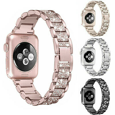 $ CDN9.99 • Buy Diamond Stainless Steel Band Strap For IWatch Series 5 4 3 2 1 38/40/42/44MM