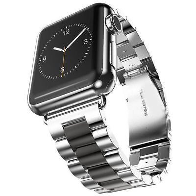 $ CDN10.99 • Buy 3-Beads Stainless Steel  Watch Wrist Band Starp For IWatch Series 5 4 3 2 1