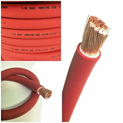 AU6.04 • Buy 1/0 AWG 0 Gauge Battery Cable Red By The Foot OFC Copper Power Wire Made In USA