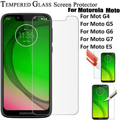 Screen Protector  & Cove For Motorola Moto G7 Power /Play /E5 /G6 Tempered Glass • 1.85£