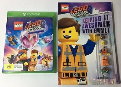 AU48.99 • Buy The Lego Movie 2 VideoGame Xbox One With The Lego Movie 2 Book And Emmet Minifig
