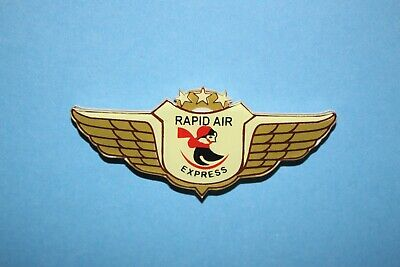Rapid Air Express Airlines Rare Plastic Badge Junior Jr Pilot Kiddie Wings Pin • 9.99$