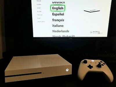 Microsoft Xbox One S 1TB Console - White With Controller, Power Cord, And HDMI • 82$