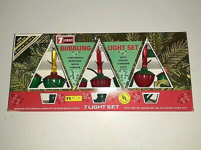 $ CDN27.23 • Buy Vintage Christmas Bubbling Light Set ACLA 7 Lights All Working