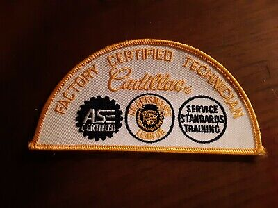 Cadillac Factory Certified Technician Hat Patch • 5.99$