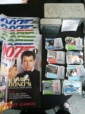 007 Spy Files Magazines, Cards, Boxes N Decoding Lenses • 15£