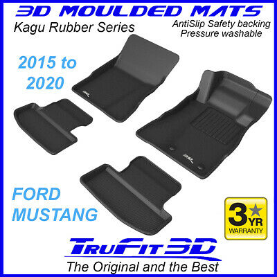 AU155 • Buy For Ford Mustang 2015 - 2020 Genuine 3D Black Rubber Car Mats