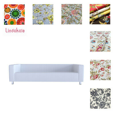 Custom Made Cover Fits IKEA  Fits 4 Seater KLIPPAN Sofa, Patterned Sofa Cover • 70.22£