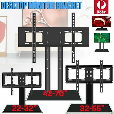 AU40.59 • Buy New Table Top TV Stand Desktop Bracket VESA Mount LED LCD 32 42 50 55-65 Inch AU