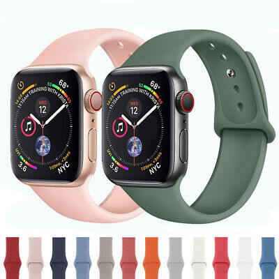 $ CDN3.93 • Buy For Apple Watch Series 5 4 3 2 Sports Silicone Bracelet Band Strap 38/42/40/44mm
