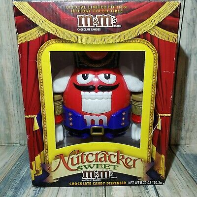 M&M's NUTCRACKER Limited Edition Holiday Chocolate Candy Dispenser  Sweet Red • 15.44£