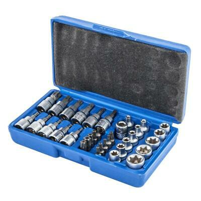 $21.49 • Buy 34 PCS Male Female Torx Star Socket & Bit Set E & T Socket Torx Bits Tools