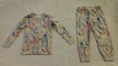 $22.99 • Buy NWT Hanna Andersson Star Wars Valentine's Day Long John Pajamas 100 4
