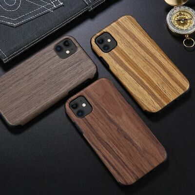 Case For IPhone 11 XR XR 7 8 Luxury Real Wood Wooden Slim TPU Back Cover Bumper • 5.59£