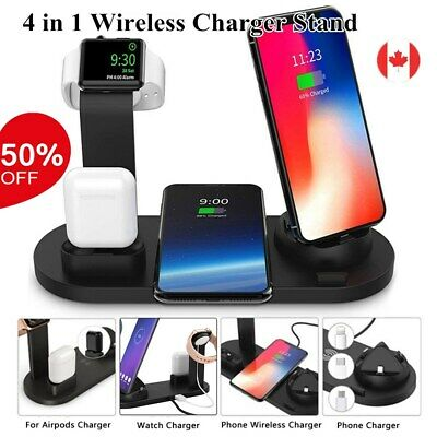 $ CDN27.99 • Buy 4 In 1 Wireless Charger Fast Charging Dock Stand Station For Apple Watch IPhone