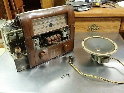 $ CDN96.74 • Buy 1938-39 Silvertone 101.510 Tube Radio Chassis For 6003 6004 6024 6124 6034 6134