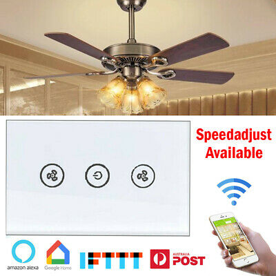 AU31.68 • Buy WIFI Smart Ceiling Fan Switch Controller Wall Touch Panel For Alexa Google Home