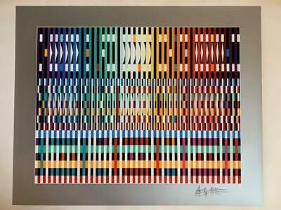 $1800 • Buy Yaacov Agam  Thanksgiving Dark  Hand Signed & Numbered Abstract-Fire Sale As Is