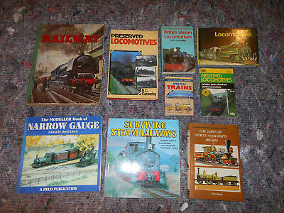 Job Lot Railway Steam Locomotive Train Books Narrow Gauge Modeller Preserved • 10£