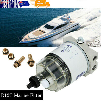 AU33 • Buy R12T Marine Spin-on Fuel Filter Water Separator For Racor Mercury Yamaha Engine