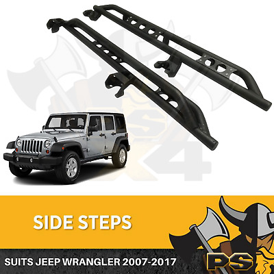 AU399 • Buy Side Steps For Jeep Wrangler JK 2007-2017 4 Door Rock Sliders