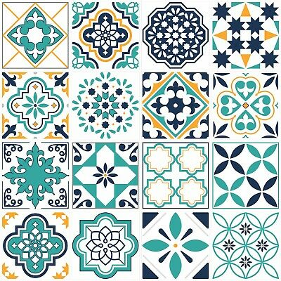 Mosaic / Pattern Tile Stickers 145mm X 145mm For Kitchen / Bathroom Tiles GT85 • 29.99£