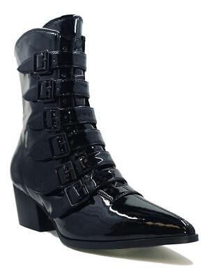 Strange Cvlt Cult YRU Coven Buckles Witchy Gothic Punk Granny Boots Heels Shoes • 116.03£