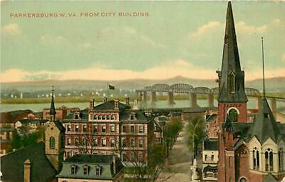 $8.95 • Buy West Virginia, WV, Parkersburg, View From City Building 1910's Postcard