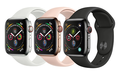 $ CDN416.22 • Buy Apple Watch Series 4 |40mm 44mm | GPS + Cellular 4G LTE - Stainless Steel Colors