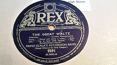 Primo Scala's Accordian Band/ Jack Cooper The Great Waltz  Rex 9591 • 2.99£
