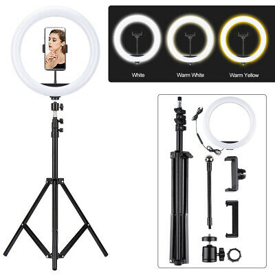 AU51.99 • Buy 12  6.2  Dimmable USB LED Ring Light Diffuser Stand Mirror Make Up Studio Video