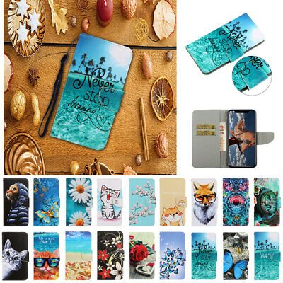 AU17.99 • Buy For IPhone 11 Pro Max 7 8 Plus XR 6S New Painted Leather Wallet Card Case Cover