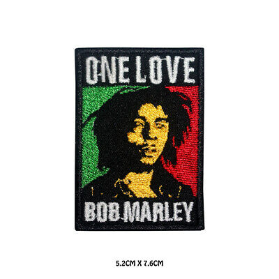 BOB Marley One Love Rasta Flag Embroidered Iron On Sew On Patch Badge  • 1.99£