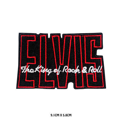 £1.99 • Buy Elvis Music Logo Embroidered Iron On Sew On Patch Badge For Clothes Etc