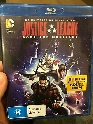 AU41.95 • Buy Justice League - Gods And Monsters BLU RAY (2015 Animated DC Superhero Movie)