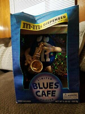 $7 • Buy M&M's Limited Edition Blues Cafe Dispenser Blue W/ Shades Playing Sax M & Mm