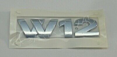 Genuine VW TOUAREG CHROME W12 TRUNK BOOT LID BADGE EMBLEM 7L6853675D 739 • 30.20£