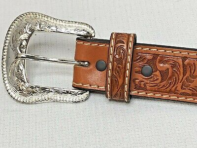 $19.98 • Buy Ranger Western Hand Tooled Leather Cowboy Belt-Style WB2644 With Conchos Sz 30