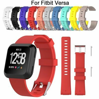 $ CDN2.67 • Buy Silicone Bracelet Replacement Wristband Wrist Strap Smart Band For Fitbit Versa