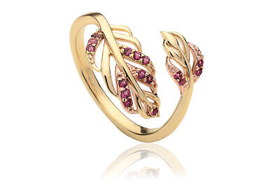£160 • Buy NEW Clogau 9ct Yellow & Rose Gold Debutante Tourmaline Ring £340 Off! Size N