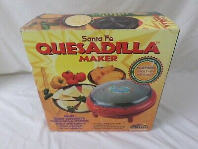 $90.99 • Buy Salton Santa Fe Quesadilla Maker With Built-In Tortilla Warmer QM5SFRT BRAND NEW